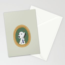 Awesome Dog with necktie Stationery Cards