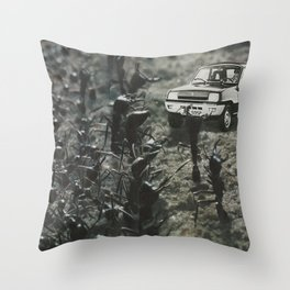 Arrival at the Colony Throw Pillow