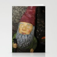 gnome Stationery Cards featuring Gnome by alexarayy
