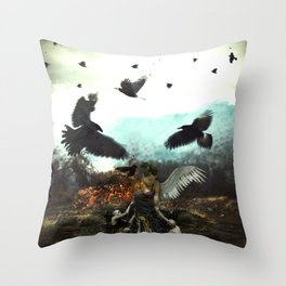 Absorbing the Dark Throw Pillow