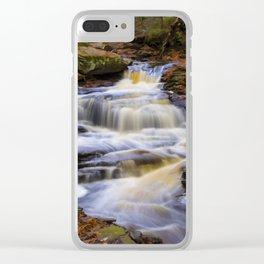 Autumn Cascade Clear iPhone Case
