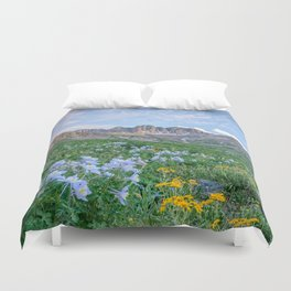 COLORADO HIGH COUNTRY MOUNTAIN SUMMER WILDFLOWERS LANDSCAPE PHOTOGRAPHY Duvet Cover