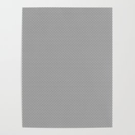 White and Gray Basket Weave Lines Poster