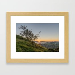 Leaning on the Edge Framed Art Print