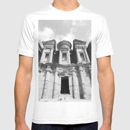 Monastery Jordan - Petra - black & white Photography  T-shirt