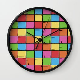 Color Boxes Wall Clock