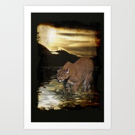 Night of the Cougar Art Print