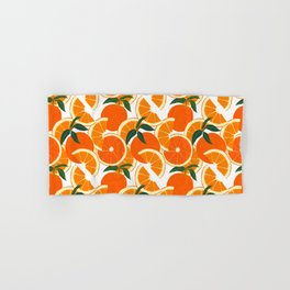Orange Harvest - White Hand & Bath Towel