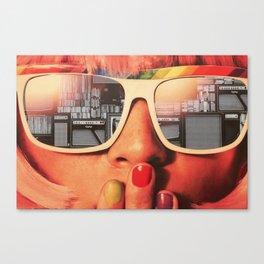 Retro Girl Canvas Print