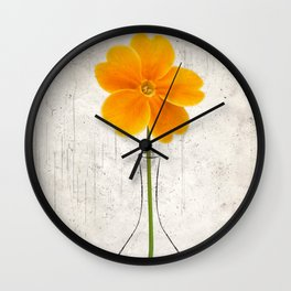 Orange Hermit Wall Clock