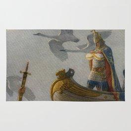 King Arthur and Excalibur Rug