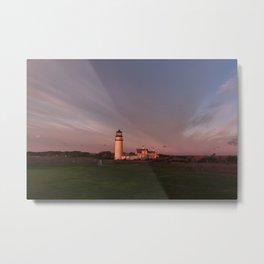 Highland Lighthouse Sunrise Metal Print