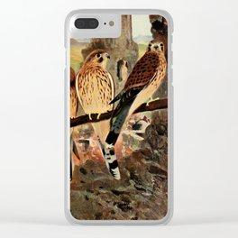 Kuhnert, Friedrich Wilhelm (1865-1926) - Wild Life of the World 1916 v.1 (Kestrel) Clear iPhone Case