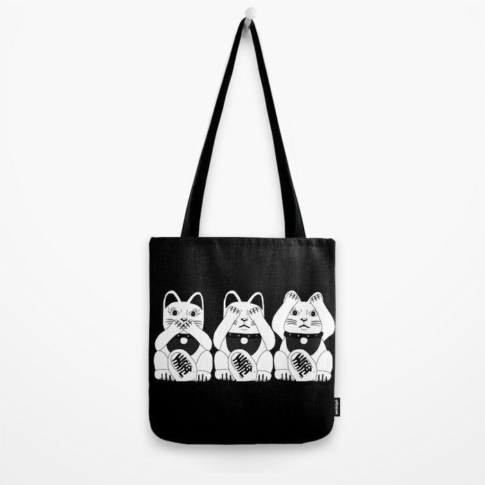 Three Smart Cats Tote Bag
