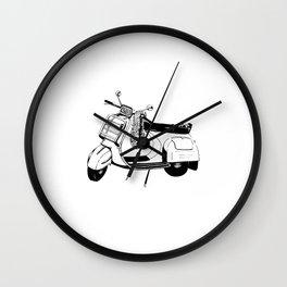 Ink Drawing | Bali Scooter Wall Clock