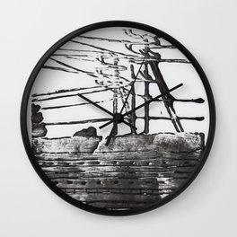 Lines, Black Wall Clock