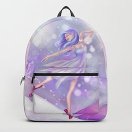 Winter Lavender Ballerina Backpack