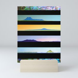 NEW ZEALAND PAUA LANDSCAPES Mini Art Print