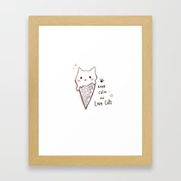 Keep calm and love cats *MeowCollection* Framed Art Print