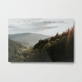 View from the German Mountains | Colourful Travel Photography | Waldkirch, Schwarzwald, Germany (Europe) Metal Print