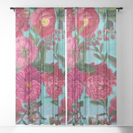 Vintage & Shabby Chic - Summer Tropical Garden I Sheer Curtain