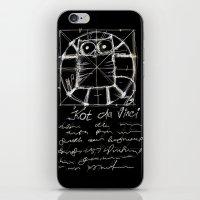 da vinci iPhone & iPod Skins featuring Kot da Vinci (black) by Katja Main