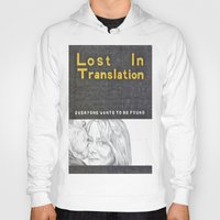 lost in translation Hoodies featuring LOST IN TRANSLATION hand drawn movie poster in pencil by The Exiled Elite
