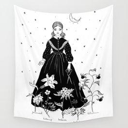 moon garden Wall Tapestry