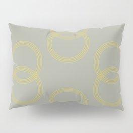 Simply Infinity Link Mod Yellow on Retro Gray Pillow Sham