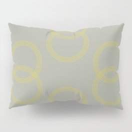 Simply Infinity Link Mod Yellow on Retro Gray Pillow Sham