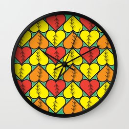 Love Fall Wall Clock