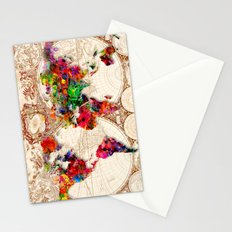 Antique and POP Art Map Stationery Cards