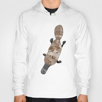 platypus Hoodies featuring Platypus by K J Guindon
