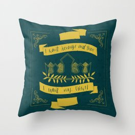 I Want My Crown (Three Dark Crowns Throw Pillow