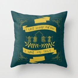 I Want My Crown (Three Dark Crowns Throw Pillow