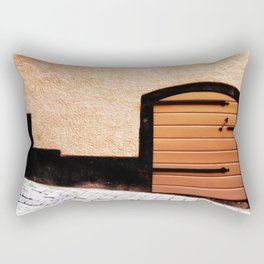 Hole In The Wall Rectangular Pillow