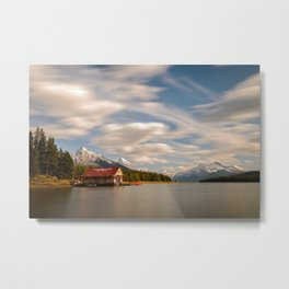 MALIGNE LAKE AUTUMN - JASPER NATIONAL PARK CANADA - LANDSCAPE PHOTOGRAPHY PRINT Metal Print