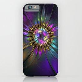 Fantasy Flower Fractal iPhone Case