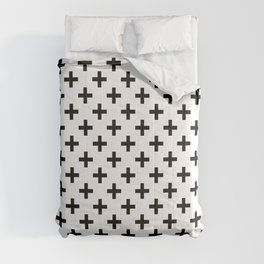 Crosses | Criss Cross | Plus Sign | Hygge | Scandi | Black and White | Comforters