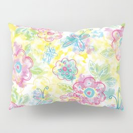 Watercolor spring pattern Pillow Sham