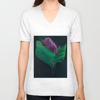 free shipping V-neck T-shirts featuring Opening - free shipping by Ordiraptus