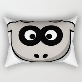 Cartoon Goat Head Rectangular Pillow