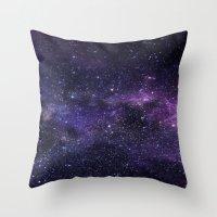 cosmic Throw Pillows featuring Cosmic by Marta Olga Klara