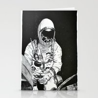 spaceman Stationery Cards featuring Spaceman by Bri Jacobs