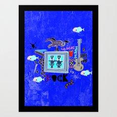 Rock and Fun Art Print