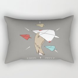 Never Surrender Rectangular Pillow