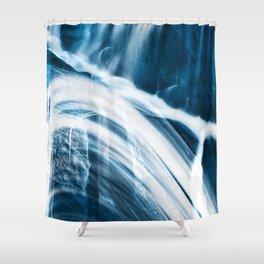 Blue Banshee Falls Shower Curtain