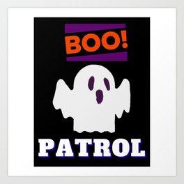 Boo Sheet Halloween Art Print
