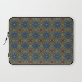 blue and red flowers Laptop Sleeve