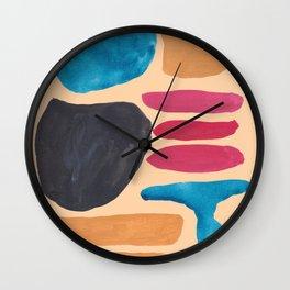 5 | 190330 Abstract Shapes Painting Wall Clock